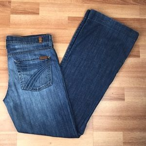 7 for All Mankind Dojo Flare Jeans Size 29 x 31